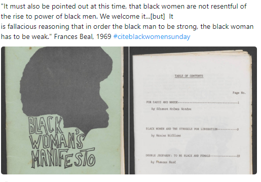 Black woman manifesto